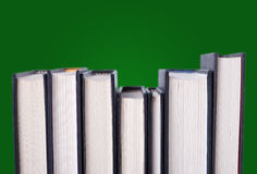 Line of hardcover books Stock Photography