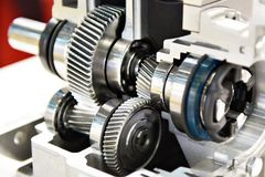 In-line helical gearbox Stock Photo