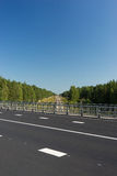 The line of the highway on the bridge over the railway Royalty Free Stock Photography