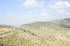 Line of the hills of Israel. Line the hills outside the city of Karmiel Israel Stock Photos