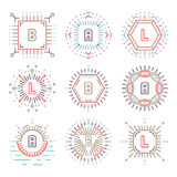 Line hipster monograms Royalty Free Stock Images
