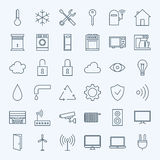 Line Home Technology Icons Set Royalty Free Stock Image
