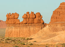 Line of hoodoos Stock Images