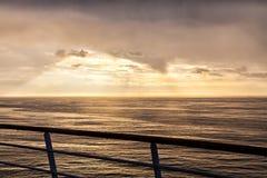 The line of horizon in sunbeam, The North Sea Stock Image