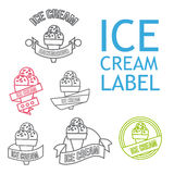 Line Ice Cream Badges Royalty Free Stock Image