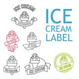 Line Ice Cream Badges Royalty Free Stock Image