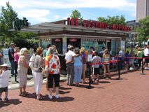 Line at the Ice Custard Stand Stock Photography