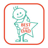The line icon - Best ever dad for Fathers day Stock Image