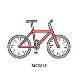 Line icon bicycle in color Royalty Free Stock Photography