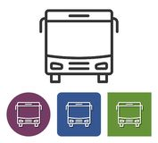 Line icon of bus. In different variants royalty free illustration