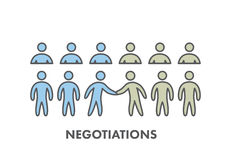 Line icon business negotiation. Vector business symbol Royalty Free Stock Photos