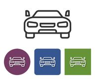 Line icon of car. In different variants stock illustration