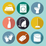 Line icon of cleaning service for web banners, web sites Royalty Free Stock Image