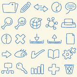 Line icon database (vector). Database icon set: line. Original editable lines in AI CS2 file Royalty Free Stock Images
