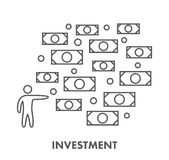Line icon investment and finance. Vector business symbol Stock Photography