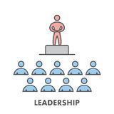 Line icon leadership. Vector business symbol Royalty Free Stock Photos