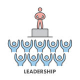 Line icon leadership. Vector business symbol Royalty Free Stock Image