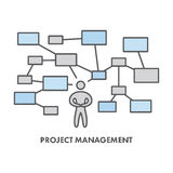 Line icon project management. Vector business symbol. Logo and banner Royalty Free Stock Image