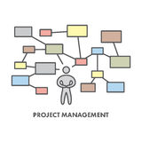 Line icon project management. Vector business symbol. Logo and banner Stock Photography