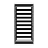 Line icon server cartoon. Line icon black server cartoon vector graphic design Stock Photo