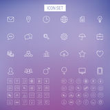 Line icon set. On blur background Stock Photo