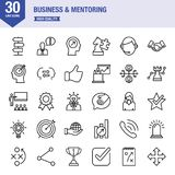 Business And Mentoring Line Icon Set. Line Icon Set About Business And Mentoring Stock Photography