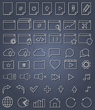 Line icon set. 50 line icon set. Trendy thin and simple icons for Web and Mobile. Light version vector illustration
