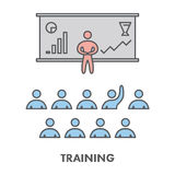 Line icon training, presentation and seminar. Vector business sy Royalty Free Stock Photo