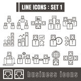 Line icons black set 1. Illustration eps 10 on white background. Line set icons black set 1. Illustration eps 10 on white background Stock Photography