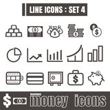 Line icons black set 4. Illustration eps 10 on white background. Line icons black set Illustration eps 10 on white background Royalty Free Stock Photos