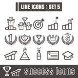 Line icons black set 5. Illustration eps 10 on white background. Line icons black set Illustration eps 10 on white background Royalty Free Stock Images