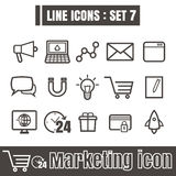 Line icons black set 7. Illustration eps 10 on white background. Line icons black set Illustration eps 10 on white background royalty free illustration