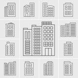 Line Icons Building set royalty free illustration
