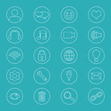 Line Icons For Business. Office Icons Set Royalty Free Stock Photos
