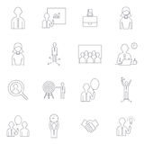 Line icons business set Royalty Free Stock Photos