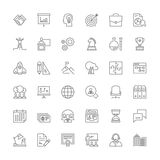 Line icons. Business Stock Photo