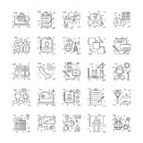 Line Icons With Detail 16 Royalty Free Stock Photography