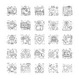Line Icons With Detail 8 Royalty Free Stock Photos