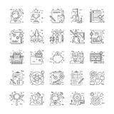 Line Icons With Detail 5 Royalty Free Stock Photos