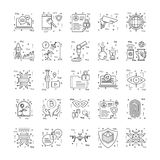 Line Icons With Detail 10. You can integrate these Line Icons set in your design work and the cool thing is, that there are so many of them, you will definitely Royalty Free Stock Photography