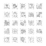 Line Icons With Detail 15. You can integrate these Line Icons set in your design work and the cool thing is, that there are so many of them, you will definitely Royalty Free Stock Image