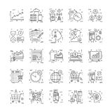 Line Icons With Detail 15. You can integrate these Line Icons set in your design work and the cool thing is, that there are so many of them, you will definitely Royalty Free Stock Photo