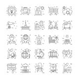 Line Icons With Detail 24. You can integrate these Line Icons set in your design work and the cool thing is, that there are so many of them, you will definitely Royalty Free Stock Photos
