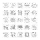 Line Icons With Detail 22 Royalty Free Stock Photography