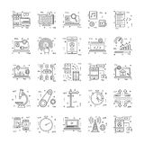 Line Icons With Detail 21. You can integrate these Line Icons set in your design work and the cool thing is, that there are so many of them, you will definitely Royalty Free Stock Photos