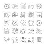 Line Icons With Detail 23 Stock Photography