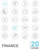 Line icons FINANCE Stock Images