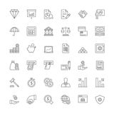 Line icons. Finances Royalty Free Stock Images