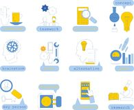 Line icons with flat design elements,vector. Illustration picture Royalty Free Stock Images
