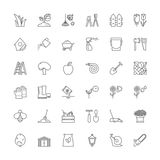 Line icons. Gardening Royalty Free Stock Images
